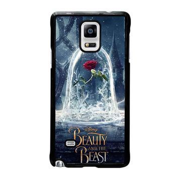 BEAUTY AND THE BEAST ROSE IN GLASS Samsung Galaxy Note 4 Case Cover