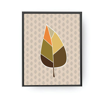 Autumn Leaf Print, Kids Print, Botanical Art, Kids Decor, Educational Poster, Plant Poster, Classroom Art, Nursery Decor, Leaf Illustration