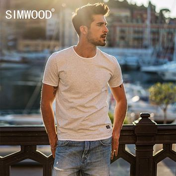 Summer New Fake Double Layered T Shirt Men Short Sleeve Contrast color T-shirt Cotton Tops Fashion Tees