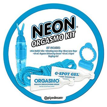 Neon Blue Orgasmo Kit - Spencer's