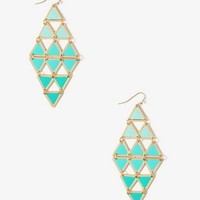 Lacquered Linked Triangle Earrings