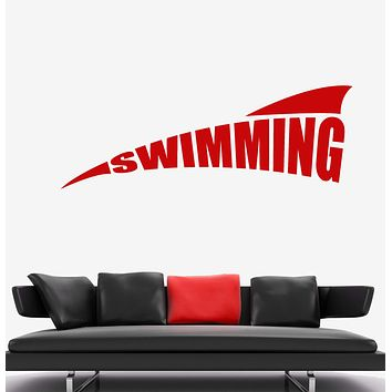 Vinyl Wall Decal Swimming Pool Logo Water Sports Stickers Unique Gift (2024ig)