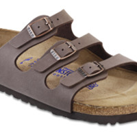 Florida Soft Footbed Mocha Birkibuc Sandals | Birkenstock USA Official Site