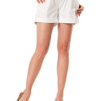 A Pea in the Pod: Secret Fit Belly(tm) Cuffed Maternity Shorts $29.99