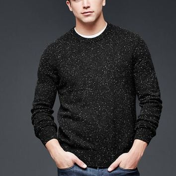 Gap Men Lambswool Speckled Crew Sweater