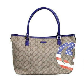 Gucci Coated Canvas Flag Handbag Tote Bag 203693