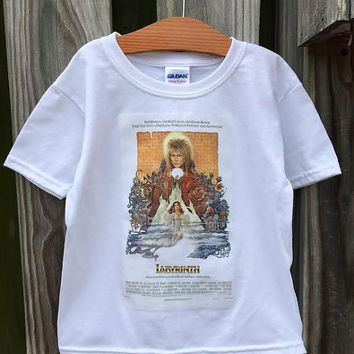 Labyrinth Movie Poster on 100% Preshrunk Cotton Tee Shirt