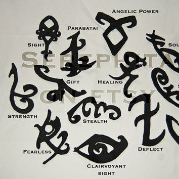 The Mortal Instruments Shadowhunter Rune Patch Set