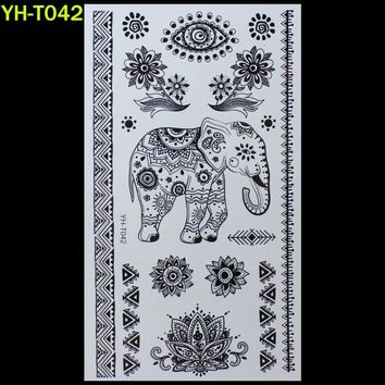 Tattoo Sticker Elephant Painted body art sticker Bracelet