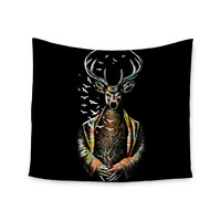 "BarmalisiRTB ""There Is No Place"" Multicolor Deer Wall Tapestry"