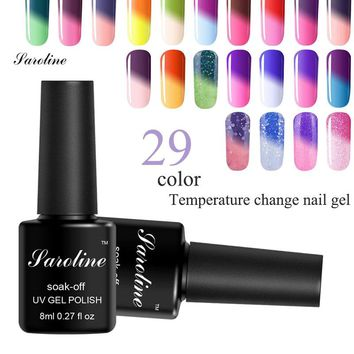 Saroline  Soak-off Gel Polish Temperature Change Nail Glue 29 Colorful Nail Gel Design Temperature Change Color Gel Nail Polish