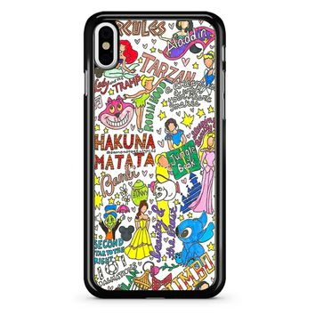 Disney Collage Art iPhone X Case