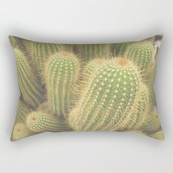 Cactus Throw Pillow, Desert Theme, Green Nature Decor, Desert Couch Cushion, Arizona Decor, Rectangular Pillow, Large Couch Cushion