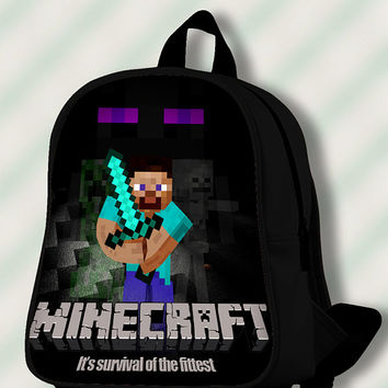 Minecraft Its Survival of The Fittest - Custom SchoolBags/Backpack for Kids.