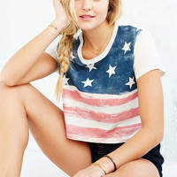 Truly Madly Deeply American Flag Baby Tee - Urban Outfitters