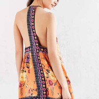 Ecote Gigi Mixed Print T-Back Frock Dress