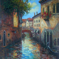 Late Morning in Venice Canvas Wall Art