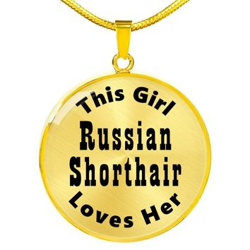 Russian Shorthair - 18k Gold Finished Luxury Necklace