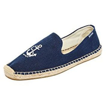 DCCK8BW Soludos Men's Anchor Smoking Slipper Loafer Midnight Blue 10 M US