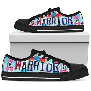 Breast Cancer Warrior Low Top Shoes