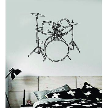 Wall Sticker Decal Deco Drum Car Vehicle Percussion Drummers Do It With Rhythm
