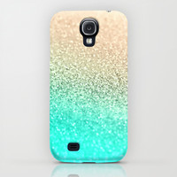 GOLD AQUA Galaxy S4 Case by Monika Strigel