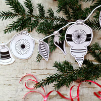 DIY Christmas Decorations Printable Christmas Tags - Messy Bed Studio