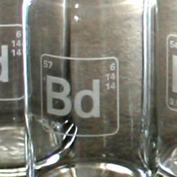 Personalized Periodic Table of Elements Beer can glasses, 16 ounces each, custom engraved, groomsmen and wedding party gifts