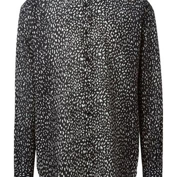DCCKIN3 Saint Laurent leopard print shirt