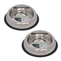 2 Pack Heavy Weight Non-Skid Easy Feed High Back Pet Bowl Dog, Cat - 16 oz - 2 cup