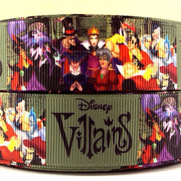 Ribbon lanyard ID holder for Disney vacation, VILLAINS with Malificent & Evil Queen adult sizes
