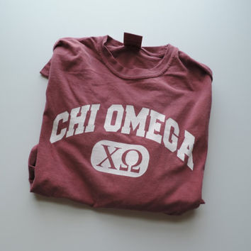 New Chi Omega Comfort Colors Long Sleeve Shirt // Size SMALL // Ready To Ship