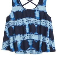 DYE EFFECT FLOWY TANK | GIRLS TOPS CLOTHES | SHOP JUSTICE