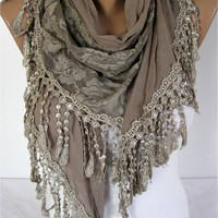 ON SALE ! Lace scarf ,women scarves - guipure - fashion scarf - gift scarves -Shawl- Fashion Shawls