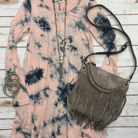 You Call Me a Dreamer Tunic Dress: Pink
