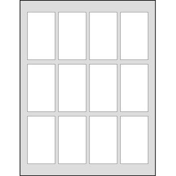 Dashleigh 60 Printable Cardstock Rectangle Hang Tags, Personalize and Custom Tags, Ultra Micro Perforation, 1.75 x 3 inches, White