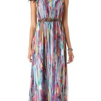 BB Dakota Bayberry Cascade Print Maxi Dress | SHOPBOP