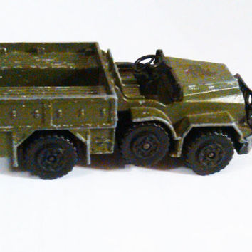 1968 Matchbox Battle Kings Military Jeep Ambulance, k112  DAF Ambulance, Vintage Matchbox Car, Green Matchbox Toy, Made in England