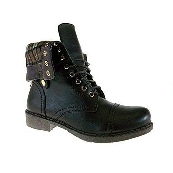 Womens' Vancover-04 Flannel Lined Military Combat Inspired Boots