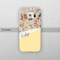 Flowers on wood print - Galaxy S6 case, Galaxy Note 4 case, Galaxy S5 case, Galaxy Note 3 case, Galaxy S4 case, Samsung case