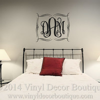 Monogram wall art wall words wall quote wall decal wall sticker for monogram wall vinyl wall decal