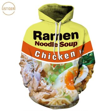ISTider 2017 New Style 3D Hoodie Brand Clothing Ramen Noodle Soup Print Sweatshirt Pork/Chicken/Beef Funny Hooded Pullovers