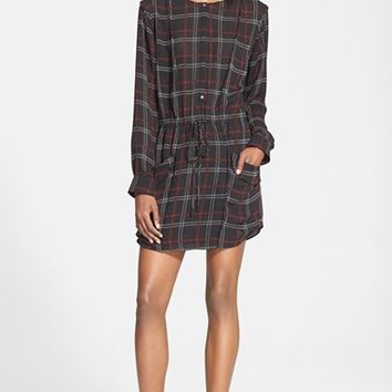 Women's A.L.C. 'Simona' Check Print Silk Dress,
