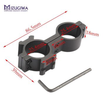 MIZUGIWA Torch Laser 25.4mm Ring 20mm Rail Weaver Mount For Flashlight Scope Lamping Mount Airgun Airsoft Hunting Accessories