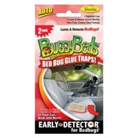 Bed Bug Trap - BuggyBeds Auto Glue Traps (2 Pack) - Detect Bed Bugs In Your Car Before Infestation