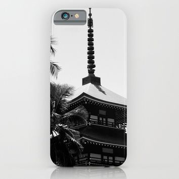 Pagoda Palms iPhone & iPod Case by Derek Delacroix