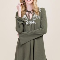 Reiko Embroidered Floral Dress