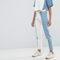 Waven Elsa Mom Jean with Contrast Panel at asos.com