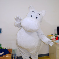 Moomin Cartoon Mascot Costume, Cosplay Costume,Adult Clothing, Costume for Adults,Performing Costume