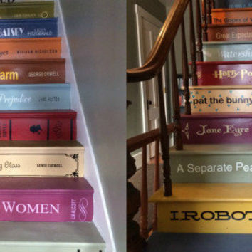Book Decals for Stair Risers-priced/step